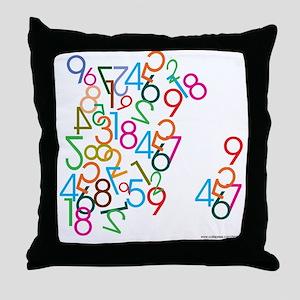 Number Jumble Throw Pillow