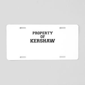Property of KERSHAW Aluminum License Plate