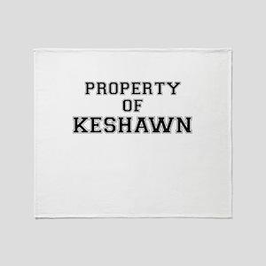 Property of KESHAWN Throw Blanket