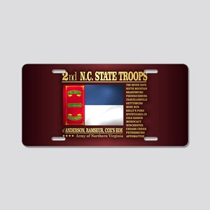 2nd NC State Troops Aluminum License Plate