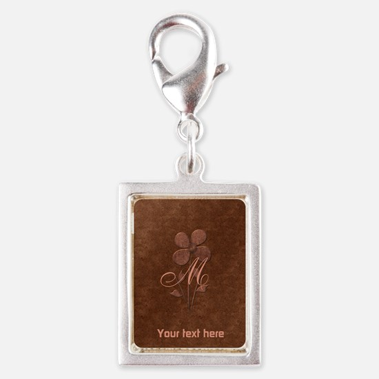 Cute Copper Look Flower Charms