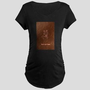 Cute Copper Look Flower Maternity T-Shirt