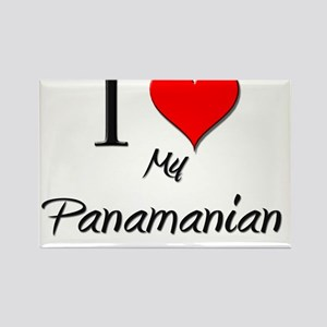I Love My Panamanian Rectangle Magnet