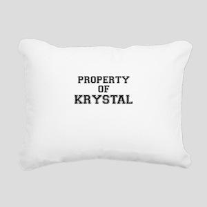 Property of KRYSTAL Rectangular Canvas Pillow