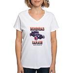 5 Window BoneHead Customz Women's V-Neck T-Shirt
