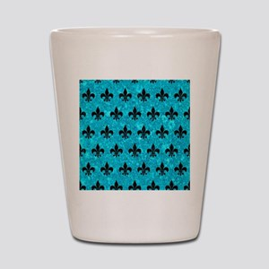 ROYAL1 BLACK MARBLE & TURQUOISE MARBLE Shot Glass
