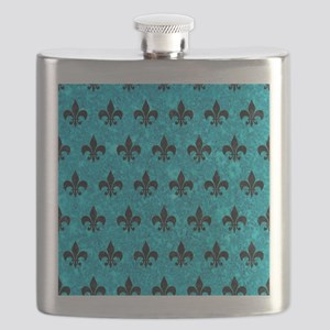 ROYAL1 BLACK MARBLE & TURQUOISE MARBLE Flask