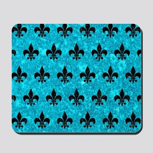 ROYAL1 BLACK MARBLE & TURQUOISE MARBLE Mousepad
