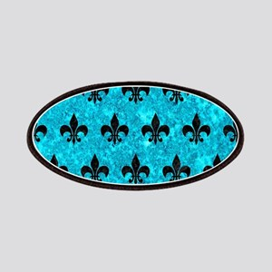 ROYAL1 BLACK MARBLE & TURQUOISE MARBLE Patch