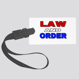 LAW AND ORDER Large Luggage Tag