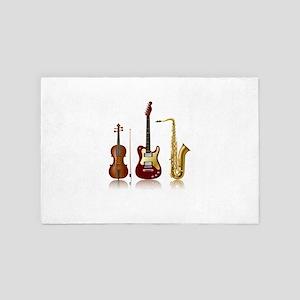 Jazz Music Instruments 4' x 6' Rug