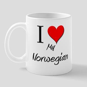 I Love My Norwegian Mug