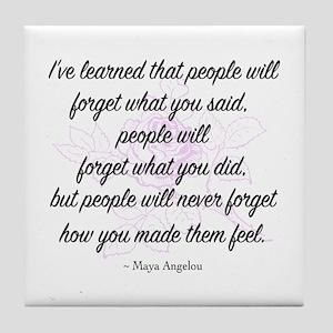 Maya Angelou Tile Coaster