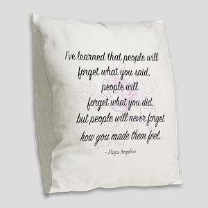 Maya Angelou Burlap Throw Pillow