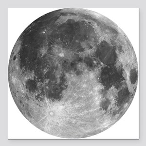 "Beautiful full moon Square Car Magnet 3"" x 3"""