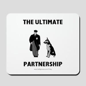 Police/Dog Partnership Mousepad