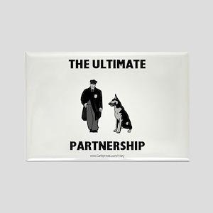 Police/Dog Partnership Rectangle Magnet