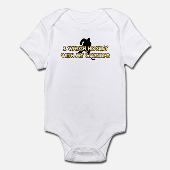 Boston Hockey Grandpa Infant Bodysuit