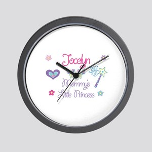 Jocelyn - Mommy's Little Prin Wall Clock