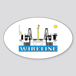 Wireline Oval Sticker