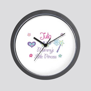 Julia - Mommy's Little Prince Wall Clock