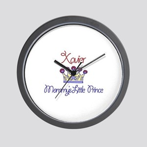 Xavier - Mommy's Little Princ Wall Clock