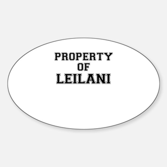 Property of LEILANI Decal