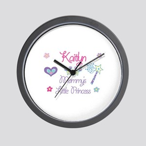 Kaitlyn - Mommy's Little Prin Wall Clock
