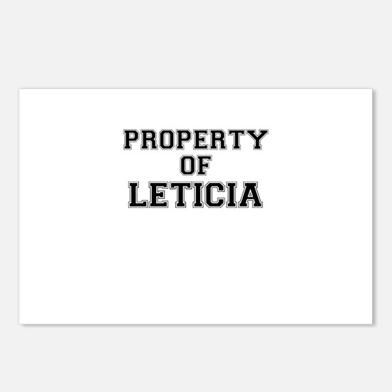 Property of LETICIA Postcards (Package of 8)