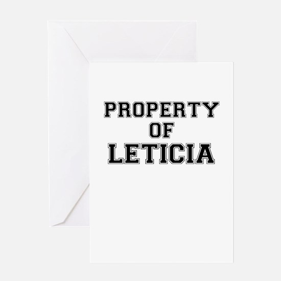 Property of LETICIA Greeting Cards