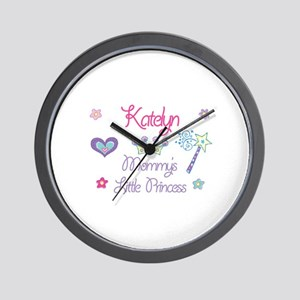 Katelyn - Mommy's Little Prin Wall Clock