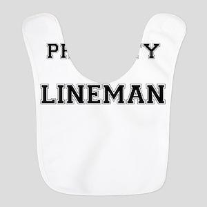 Property of LINEMAN Polyester Baby Bib