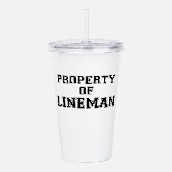 Property of LINEMAN Acrylic Double-wall Tumbler