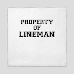 Property of LINEMAN Queen Duvet
