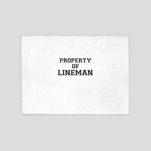 Property of LINEMAN 5'x7'Area Rug