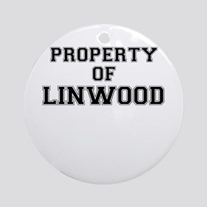 Property of LINWOOD Round Ornament