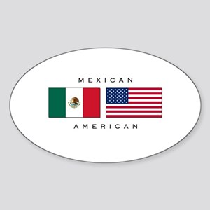 Mexican American Oval Sticker