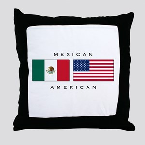 Mexican American Throw Pillow