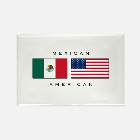 Mexican American Rectangle Magnet