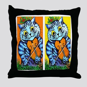 VINTAGE CAT ART Throw Pillow
