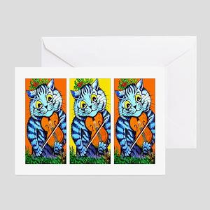 VINTAGE CAT ART Greeting Card