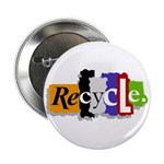 """Recycle 2.25"""" Button"""