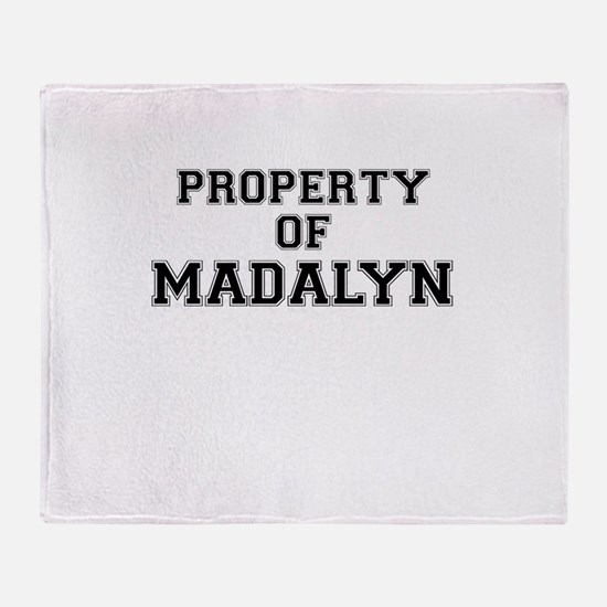 Property of MADALYN Throw Blanket