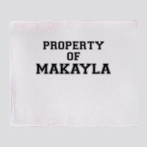 Property of MAKAYLA Throw Blanket