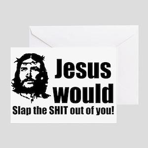 Jesus Slap! Greeting Card