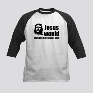 Jesus Slap! Kids Baseball Jersey