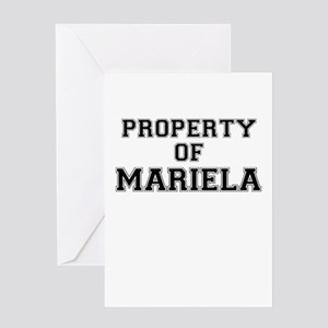 Property of MARIELA Greeting Cards