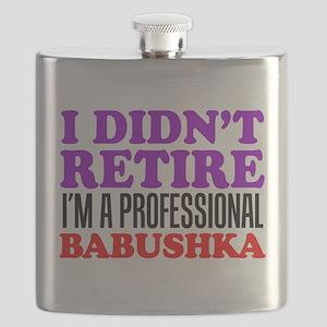 Didn't Retire Professional Babushka Flask