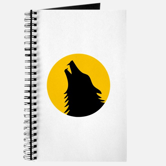 Howling Wolf with moon Journal