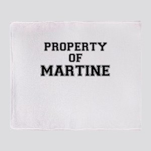 Property of MARTINE Throw Blanket